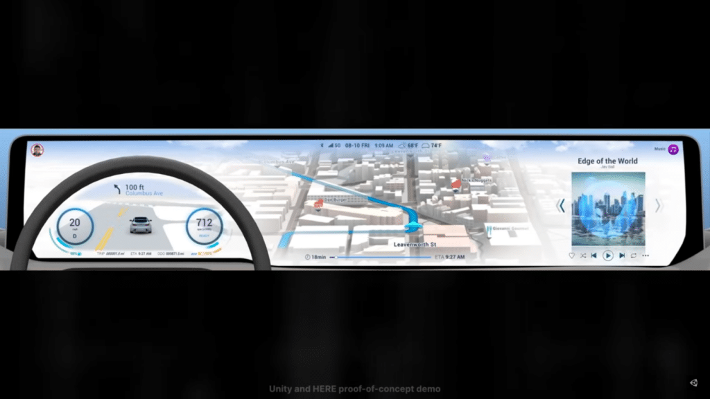 Here and unity navigation system demo