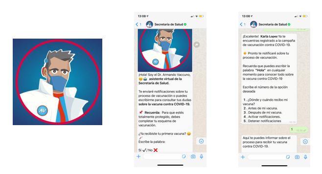 Dr. Armando Vaccuno, el chatbot en WhatsApp