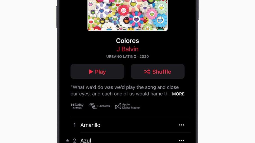 Spatial Audio en Apple Music