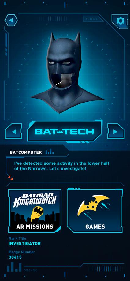 aplicación Batman Bat-Tech Edition